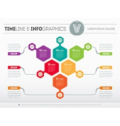 infographic of technology or education process Web vector image vector image