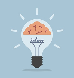 Light bulb with brain Idea concept vector image