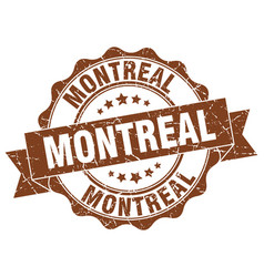 Montreal round ribbon seal vector