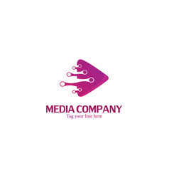 Motion video media logo vector