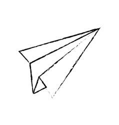 Paper plane draw vector