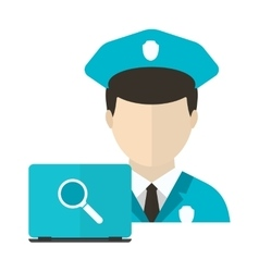 Personal computer security concept vector image