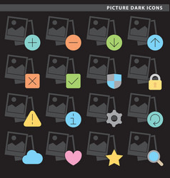 picture dark icons vector image