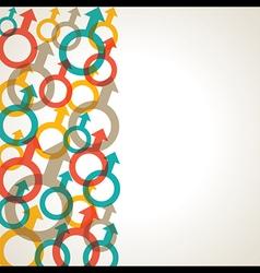 Retro male symbol background stock vector image
