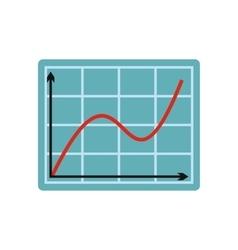 Screen arrow graph board flat icon vector