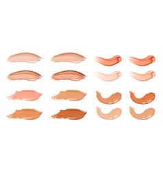 Set of cosmetic liquid foundation or caramel cream vector