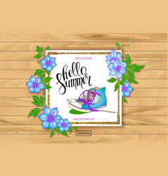 Summer discount banner sneakers vector