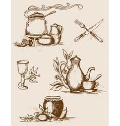 tableware vector image vector image