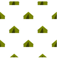Tourist or a military tent pattern flat vector