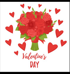 valentines day romantic gift card vector image