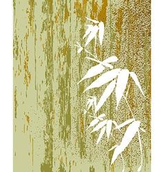 Zen bamboo vintage vector