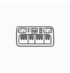 Synthesizer sketch icon vector