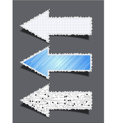 Ripped Paper Arrows vector image