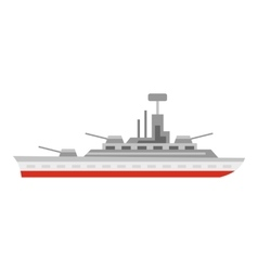 Warship icon flat style vector