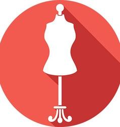 Dressmaker Mannequin Icon vector image