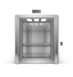 Open Chrome Metal Office Building Elevator vector image