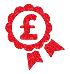 Featured pound price label grainy texture icon vector