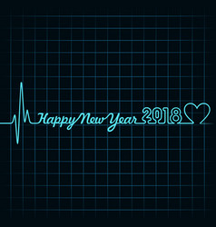 2018 greeting for new year celebration vector