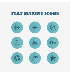Flat icons collection vector