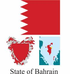 state of bahrain flag vector image