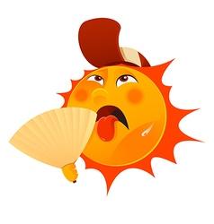 Thristy sun vector image