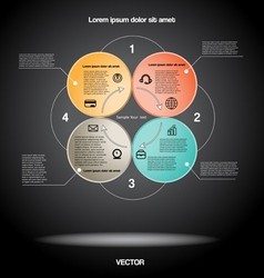 Diagram infographic for four positions vector
