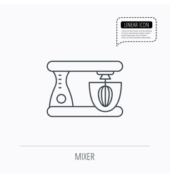 Mixer icon electric blender sign vector