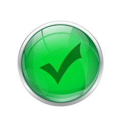 Green okay button vector