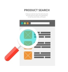 Search product website design flat vector