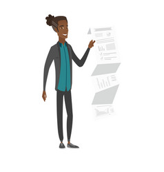 African businessman presenting business report vector
