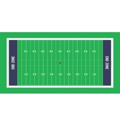 American football field top view vector image vector image
