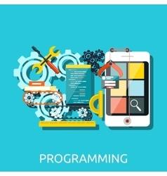 App Development Programming Concept vector image