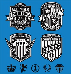 Athletic crest emblems vector image vector image