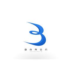 B logo red b letter icon design vector