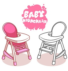 Baby highchair isolated on white background vector