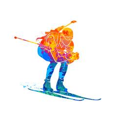 biathlon abstract sport vector image