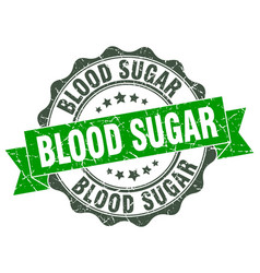 blood sugar stamp sign seal vector image vector image
