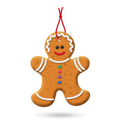 christmas gingerbread icon vector image