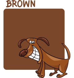 Color Brown and Dog Cartoon vector image vector image