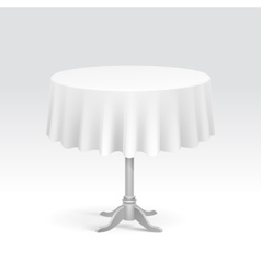 Empty Round Table with Tablecloth vector image vector image