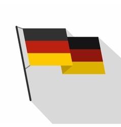 German flag icon flat style vector