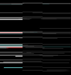glitch elements set computer screen error vector image vector image