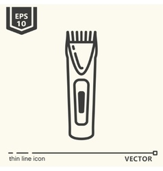 Hairdressing tools icons series trimmer vector