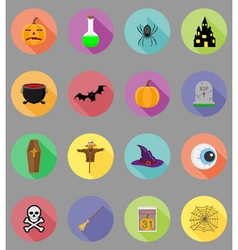 Halloween flat icons 19 vector