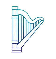 harp musical instrument isolated icon vector image