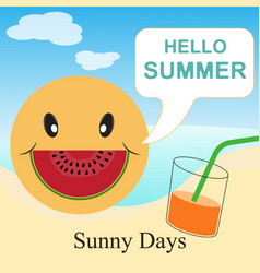 hello summer - sunny days vector image vector image