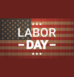 Labor day national american holiday greeting vector