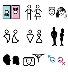 logo icons wc vector image vector image