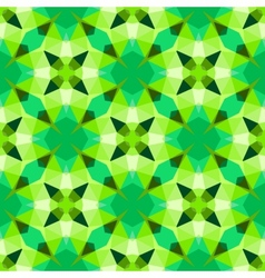 Multicolor geometric pattern in bright green vector
