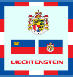 Official government ensigns of liechtenstein vector